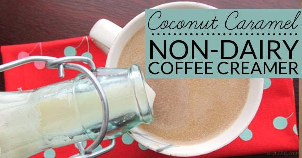 non dairy coconut caramel homemade coffee creamer   bren did