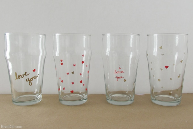 Use oil-based paint pens to make Sharpie Pint Glass in the easy tutorial. No artistic skill needed for this easy Sharpie project. Tutorial from BrenDid.com