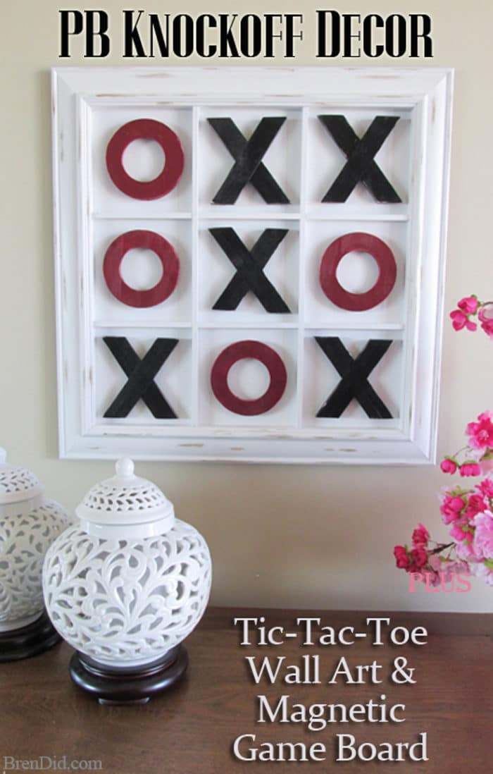 PB Inspired Tic-Tac-Toe Wall Art and Game - Bren Did