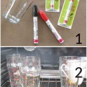 Easy Sharpie Glass Tutorial - make custom glasses with sharpie paint pens