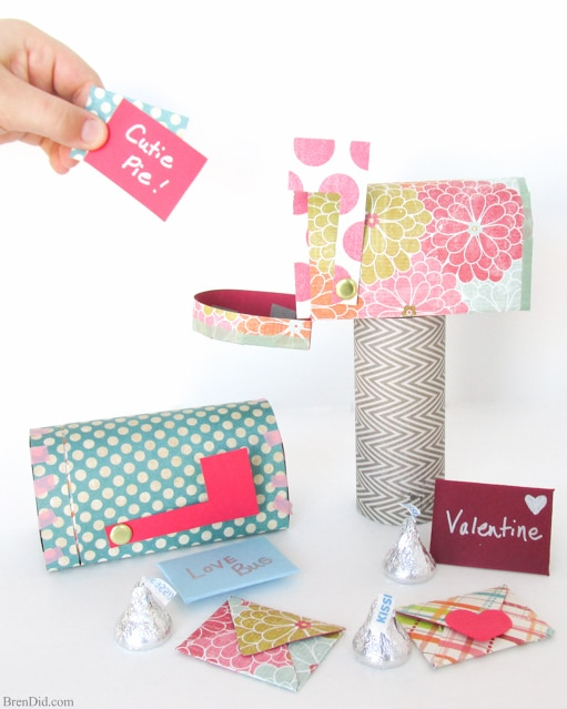 image regarding Free Printable Paper Crafts named Valentine Papercraft: Free of charge Printable Mailbox Mini