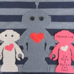 Robot Applique T-shirt Pattern & Free Printable Valentine Card