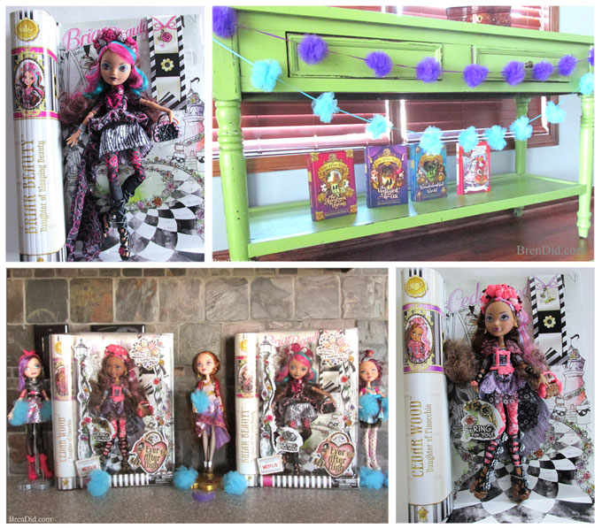 ever after high dolls as party decor