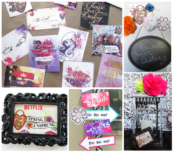 ever after high party free printable decorations and activities