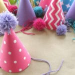 Easy Kids Birthday Party Idea: Fabric Covered Party Hats