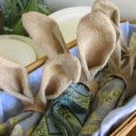 PB Inspired Easter Bunny Napkin Rings DIY
