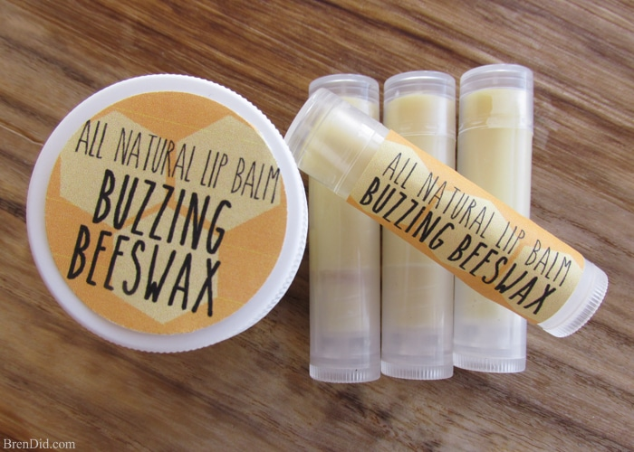 Homemade Organic Beeswax Lip Balm, This easy recipe is a great substitute for more expensive pre-made organic lip balm and only cost $0.59 a tube! Must try!