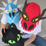 How to Train Your Dragon Easy Baseball Hats with Free Printable Pattern