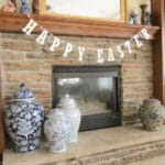 PBK Inspired Glitter Happy Easter Banner