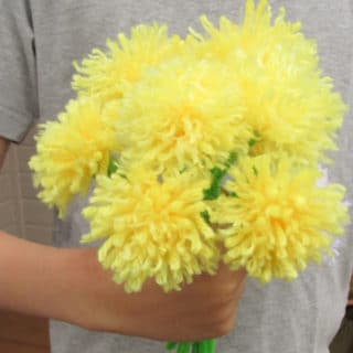 tassel flowers bouquet in hand