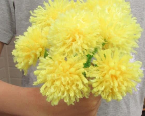 tassel flowers bouquet in hand