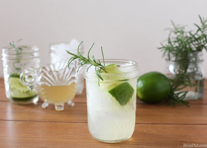 The Gin Rickey is a vintage 1920's cocktail made from a refreshing mix of fresh lime juice, sparkling water and gin. This Gin Rickey is updated with easy Rosemary Honey simple syrup. Fresh rosemary is steeped in hot water and blended with honey to lightly sweeten the drink.