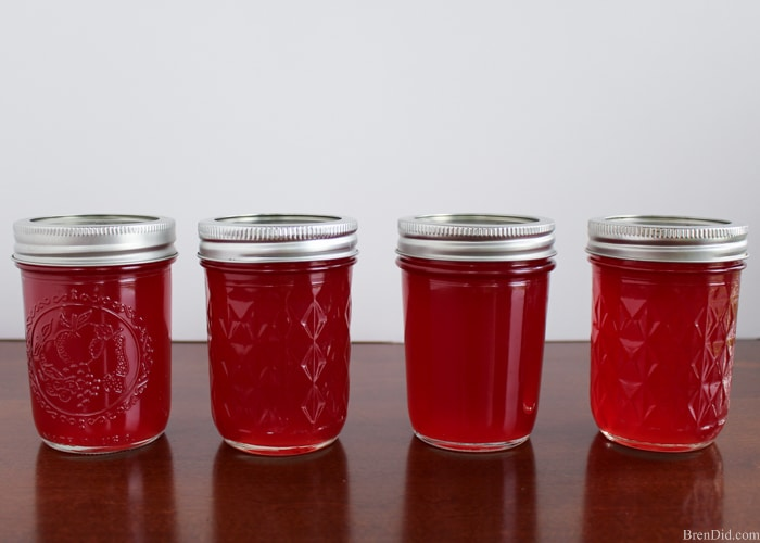 Making homemade jelly seems hard until you try it for the first time. Fresh juice, sugar and fruit pectin are all that you need. You simple stir, boil, stir, boil, and store. Enjoy preserves with no artificial colors or preservatives… just like Grandma makes!