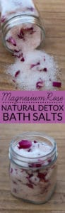 How to make Magnesium Rose Natural Detox Bath Salts