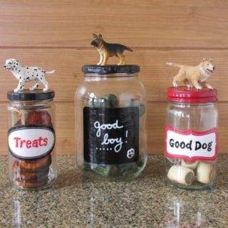 Easy Upcycled Pet Treat Containers
