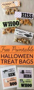 Free printable Halloween goodie bag toppers can be used for parties, treat bags, or fun school lunches. They feature cute little Halloween creatures and fun Halloween jokes.