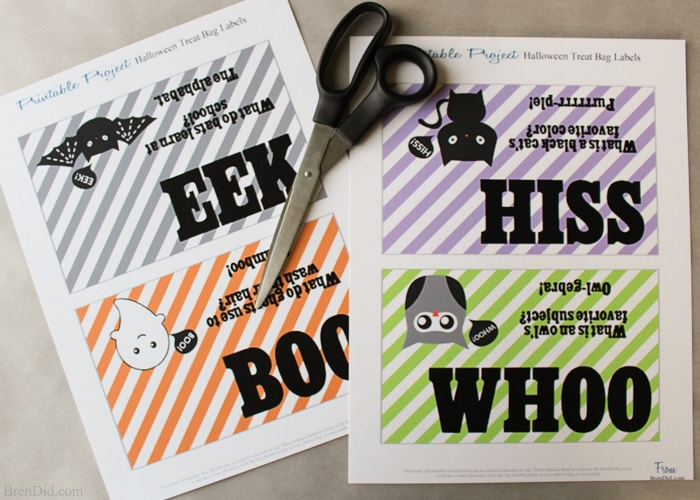 free printable halloween goodie bag toppers can be used for parties treat bags or