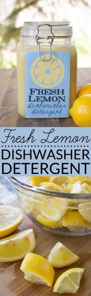 Fresh Lemon Homemade Dishwasher Detergent - Bren Did