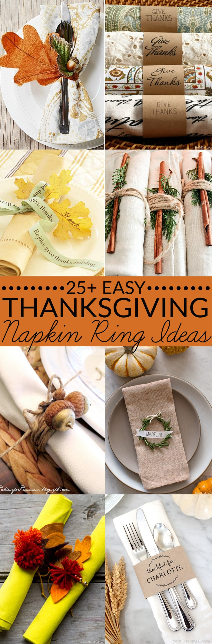 25 Gorgeous Diy Thanksgiving Napkin Rings To Make
