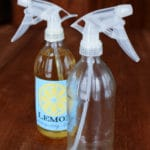 DIY Glass Spray Bottle for Green Cleaning with Essential Oils
