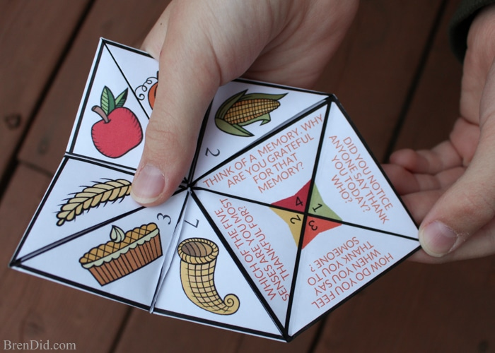 gratitude activity for kids thanksgiving cootie catcher bren did