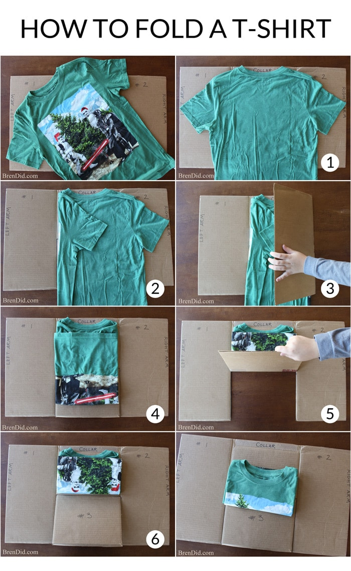 Make an easy diy t shirt folding device from a cardboard How to design shirt
