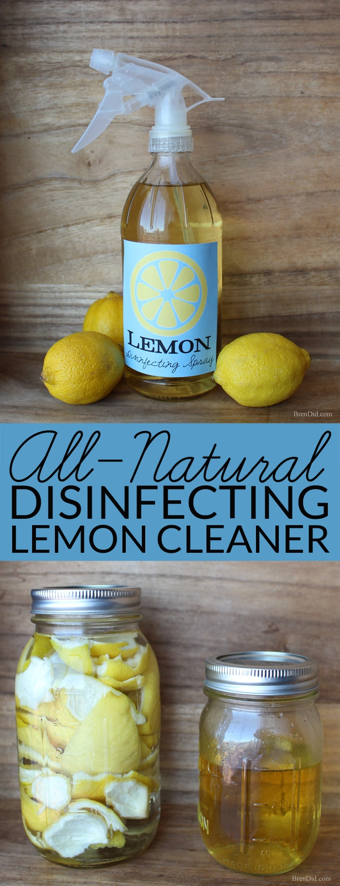 Lemon Infused Disinfectant Spray Cleaner - Bren Did