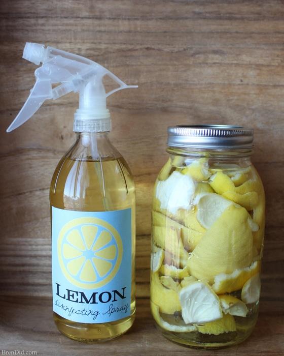 lemon infused disinfectant spray cleaner bren did