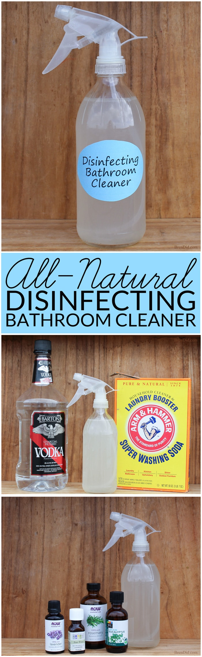 Natural Bathroom Disinfectant Cleaner Bren Did - Natural cleaning products for bathroom