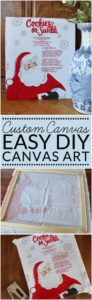 DIY canvas art can be customized to any season or decorating style. Simply change the fabric front for each holiday. Easy DIY for under $15!