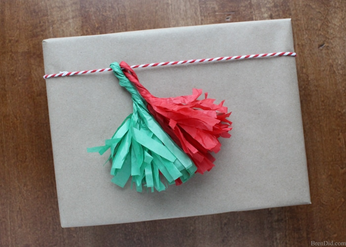 How to Make Tassels from Tissue Paper - Make your own free eco-friendly paper tassels for garlands and gift tie-ons using justtissue paperandscissors. They are a huge DIY trend andthey are freeby reusing tissue paper!