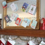 Jingle Bell Garland Christmas Card Display