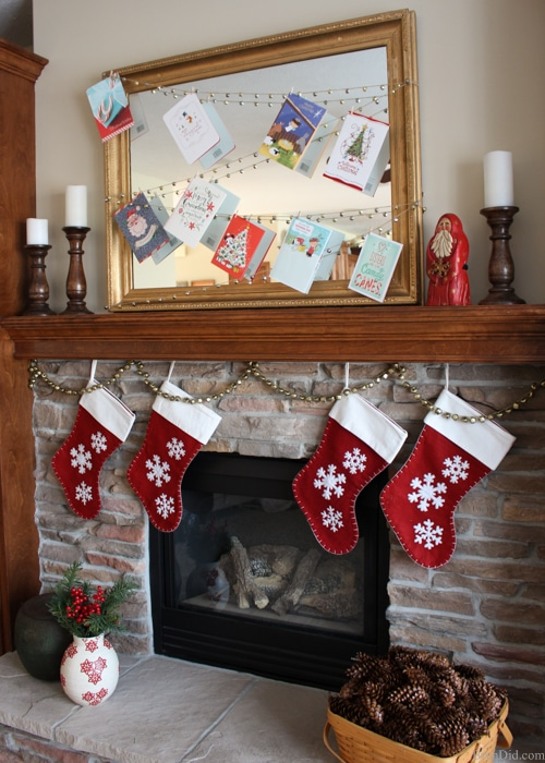 Jingle Bell Garland Christmas Card Display from Bren Did-24