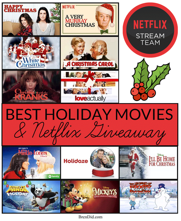 The Ultimate Holiday Movie Checklist: Free Printable - Bren Did