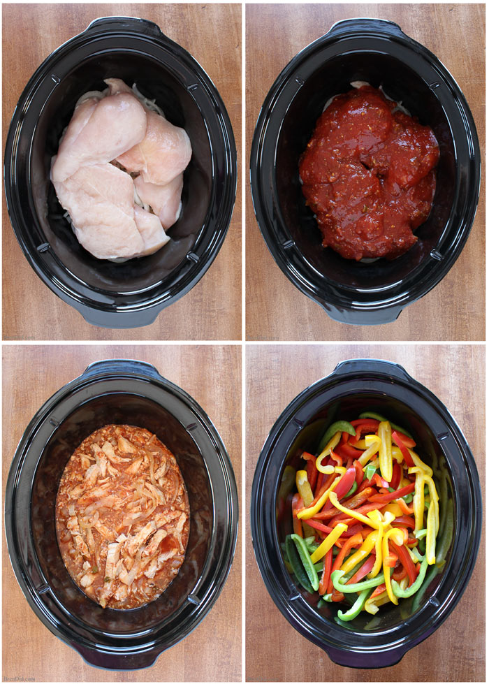 Healthy slow cooker chicken fajitas easy dinner idea healthy slow cooker chicken fajitas my new go to recipe for fajitas slow cooker forumfinder Gallery