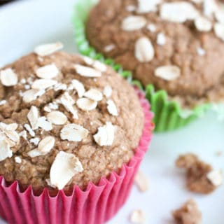 No Sugar Apple Cinnamon Healthy Muffins