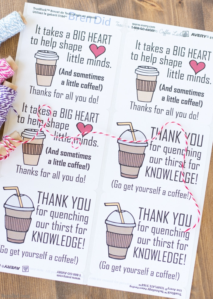 The 5 minute coffee teacher appreciation gift bren did the end of school year is approaching tell your teacher thank you with this easy negle Images