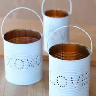 Upcycled Craft Idea: Valentine Tin Lantern