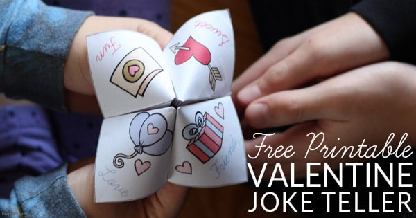 valentine joke teller in hands