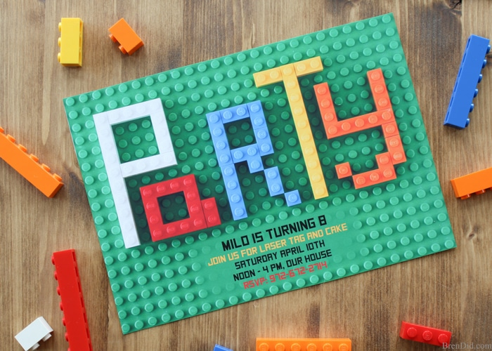 How to make lego party invitations bren did looking for original or free lego birthday party invitations this step by step stopboris Choice Image