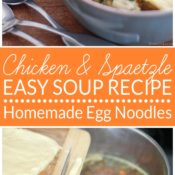 Spatzle are a simple egg noodle made from flour, milk and eggs. Cook them in chicken broth with basic vegetables and leftover chicken for a delicious homemade soup. This easy spatzle recipe has many uses.