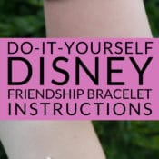 Style your Disney Magic Bands with adorable handmade bracelets! Follow this easy tutorial to learn how to make a custom Disney friendship bracelet. DIY Friendship Bracelets are super simple for kids to make and are a great family craft. Learn how to make friendship bracelets and custom character tags. Custom Shrinky Dinks Disney character craft and bracelet Instructions.