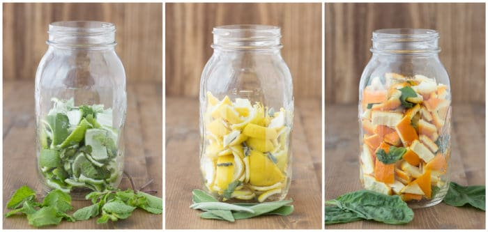 Scented Vinegar for Cleaning Herbs and Citrus