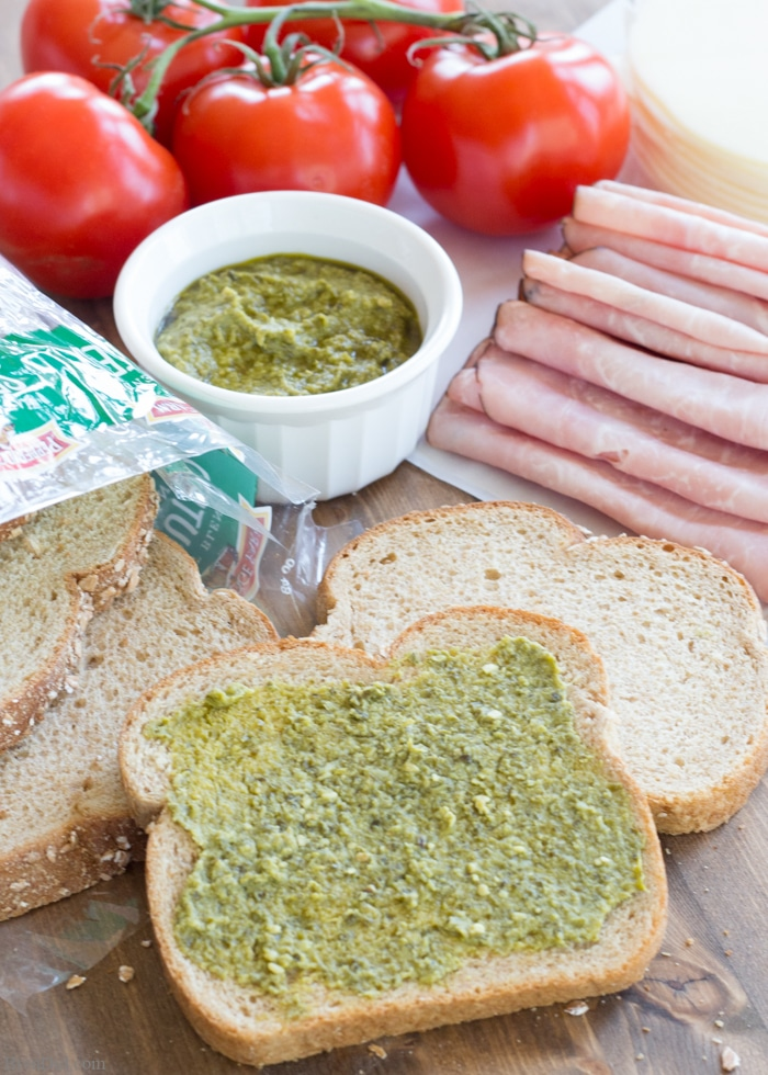 An amazing sandwich recipe is the best quick dinner solution. This grilled ham, cheese, and pesto sandwich combination will be a family favorite that can help you resist fast food on busy nights.