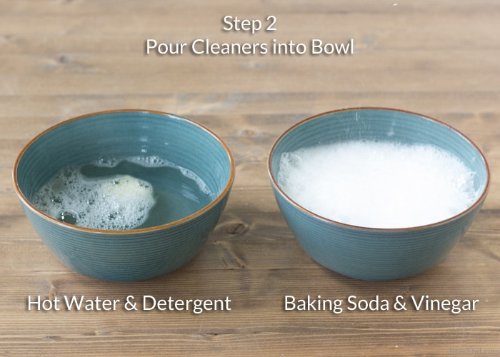 Want to naturally unclog a sink or clean a slow moving drain? Learn why you should never use baking soda and vinegar to clean your drains and see the experiment!
