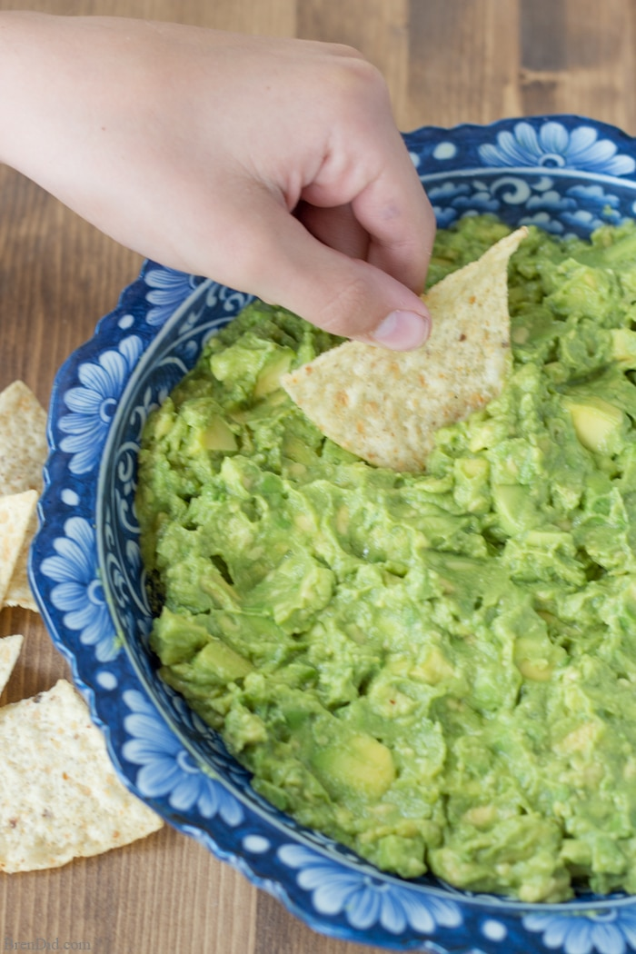 This two-way guacamole recipe makes a great basic guacamole and then turns half into spicy supreme guacamole. Perfect for families who loved different kinds of guacamole or serving at parties.