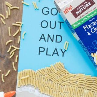 Easy Dimensional Macaroni Art for Kids