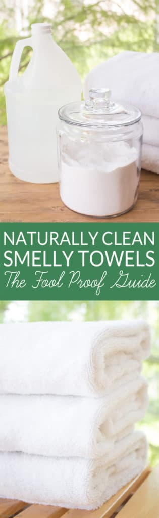 Ever encountered the musty, moldy odor of a smelly towel? The less-than-fresh scent is caused by bacteria. Gross but true! Learn how to naturally eliminate laundry room bacteria and keep towels fresh with this green cleaning tutorial.