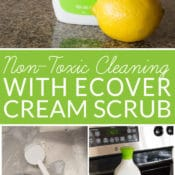 Love knowing what ingredients are in your household products but don't have time to make homemade cleaners? Non-toxic cleaning with ecover Cream Scrub is a great alternative.