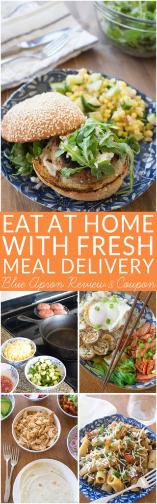 I found a way to make dinner time easier and wanted to share my experience with you. No, it's not a chef… it's Blue Apron! They deliver ready to cook meals to your front door. This Blue Apron review isn't a sponsored post or a hard sell. It is my personal experience and opinions about the fresh meal delivery service.